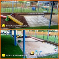New Playground Area in Glenella Before and After