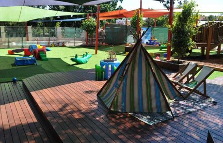 Mermaid Waters Childcare Centre Makeover Tent