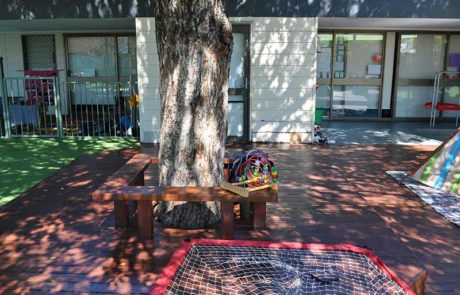 Mermaid Waters Childcare Centre Makeover Extensive decking & Trees