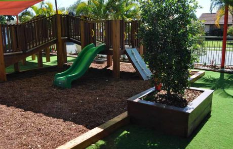 Mermaid Waters Childcare Centre Makeover Playground & synthetic grass