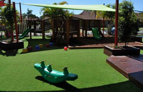 Mermaid Waters Childcare Centre Makeover climbing ramps & Slide
