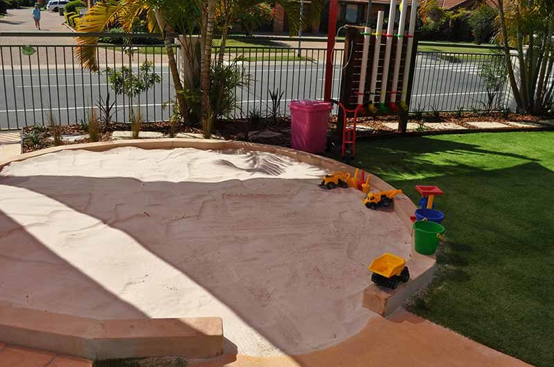 Mermaid Waters Childcare Centre Makeover sandpits