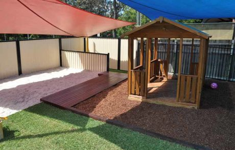 Gold Coast Childcare Centre Sandpit & Cubby House