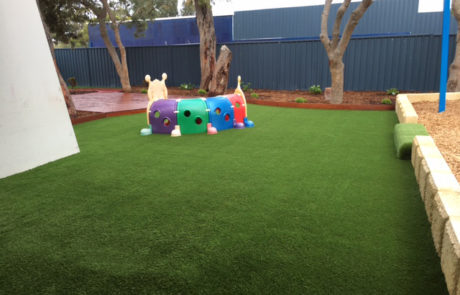 Perth Childcare Centre Playground astro turf Upgrade