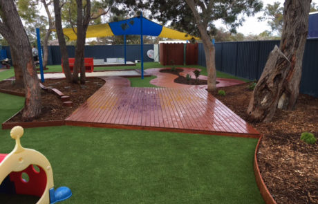 Perth Childcare Centre Playground decking Upgrade