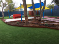 Perth Childcare Centre Sand Pit and astro turf