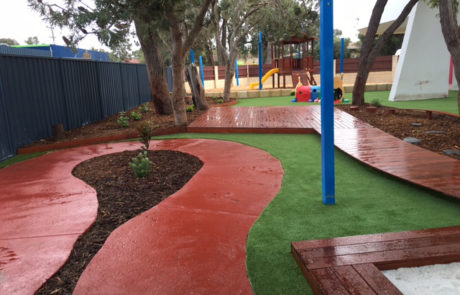 Perth Childcare Centre Playground bike path and walking path Upgrade
