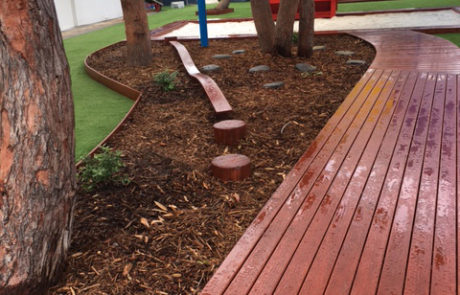 Perth Childcare Centre Playground walking path