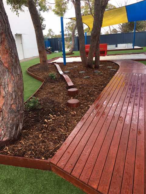 Perth Childcare Centre Playground walking path