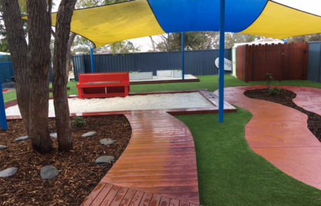 Perth Childcare Centre Playground bike path and sandpit Upgrade