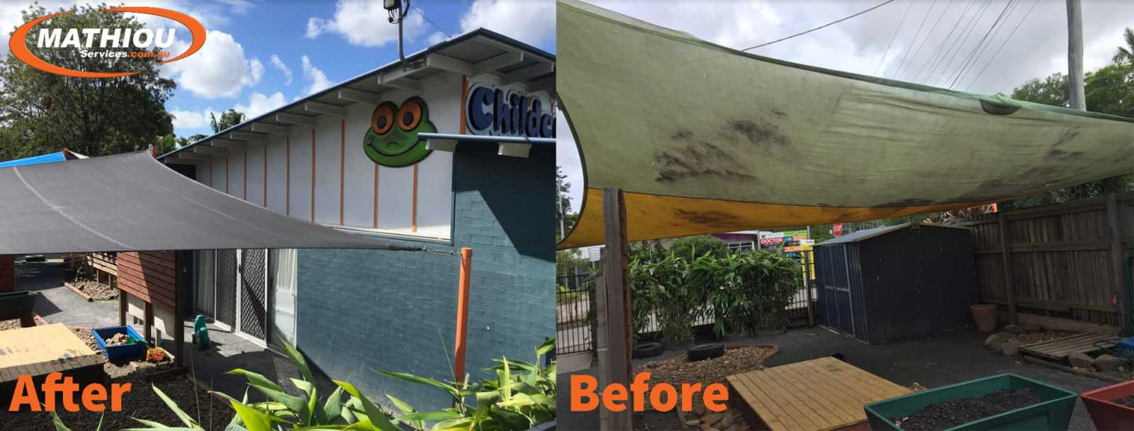 Burnsid shed and painting Before and After