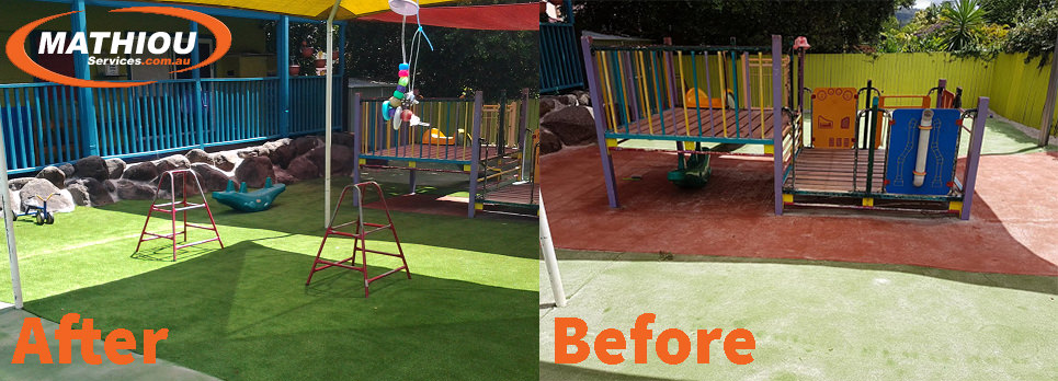 Canungra fort Before After
