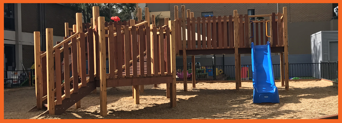 Playground build-Fort and slide