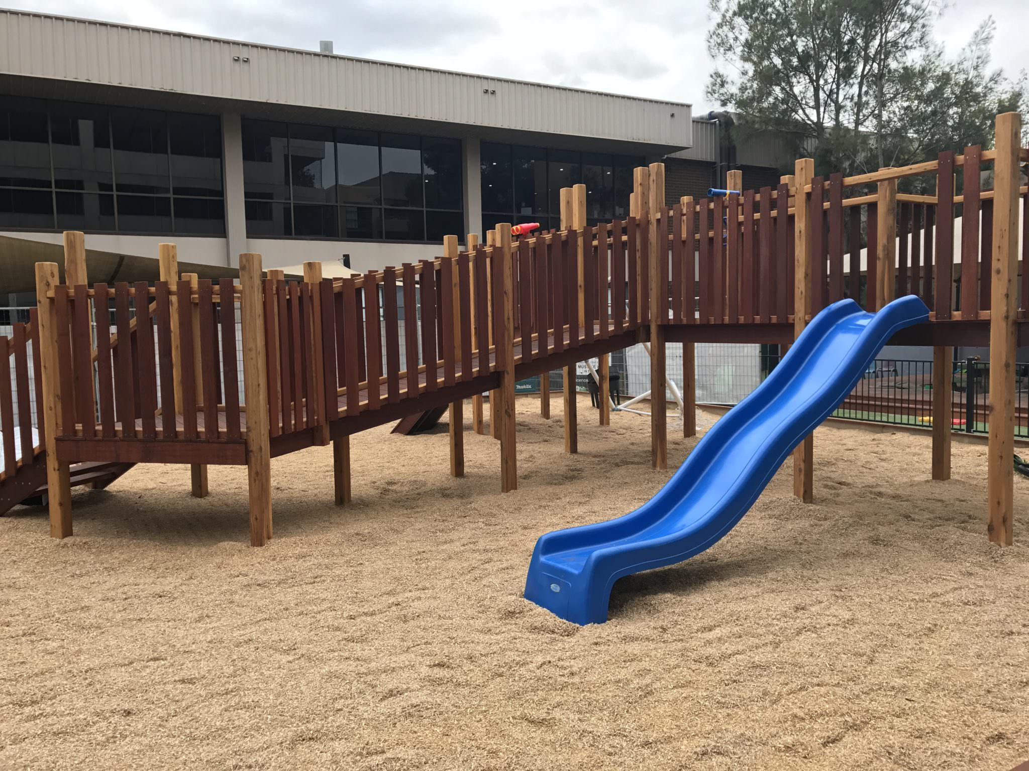 The Papilio Early Learning North Strathfield Centre Fort and slide