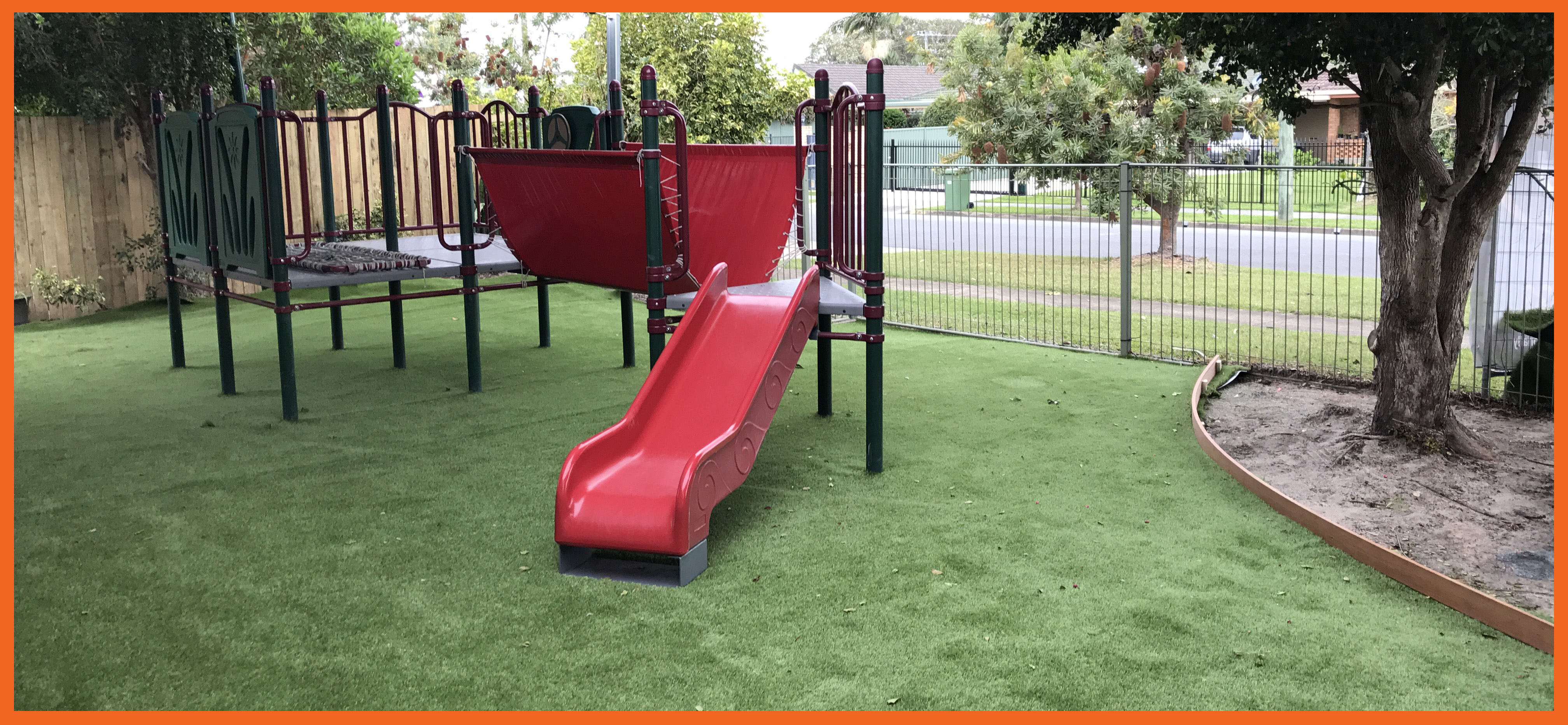 Enrolments Increase as Aussie Kindies Early Learning Tugun Gets A New Look Childcare Centre Makeovers Community Gardening & Landscaping Services Our Projects  slides Playground Upgrade playground Forts Bathroom Upgrade Astroturf