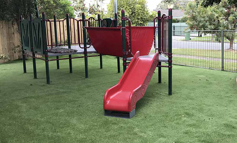 Replaced soft fall with astroturf & Slide