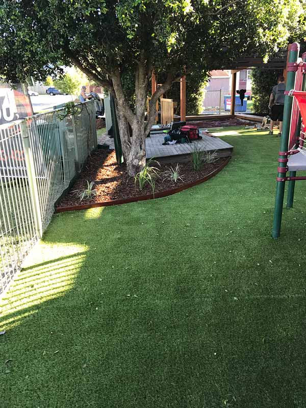 The Aussie Kindies Early Learning Tugun centre astroturf