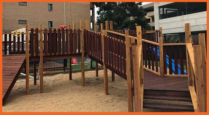Commercial Childcare playground - fort build