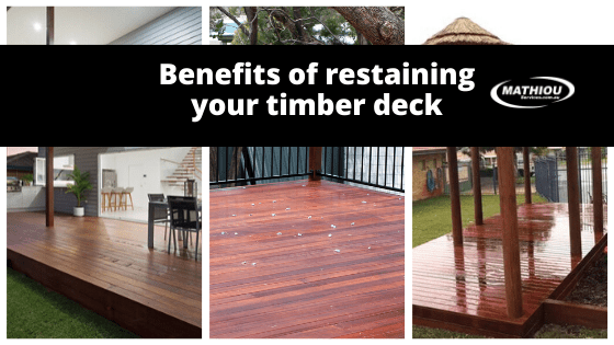 Benefits of re-staining your timber decks