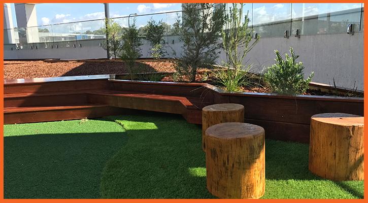 Childcare playground upgrade and bark pit