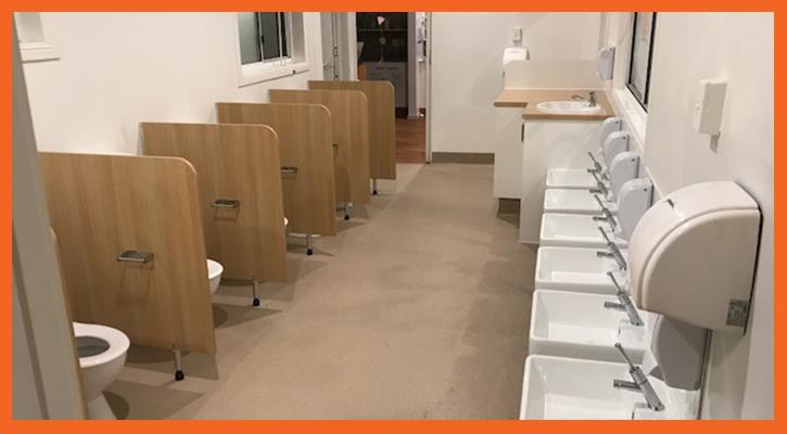 Commercial bathroom renovation in Australia