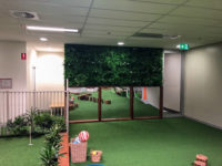 New feature walls including greenery and mirrors