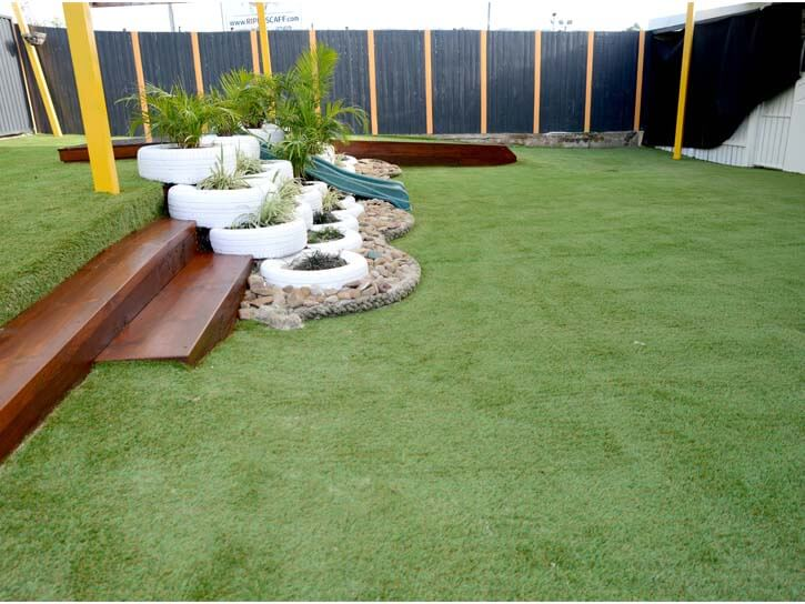 Astro turf and plants