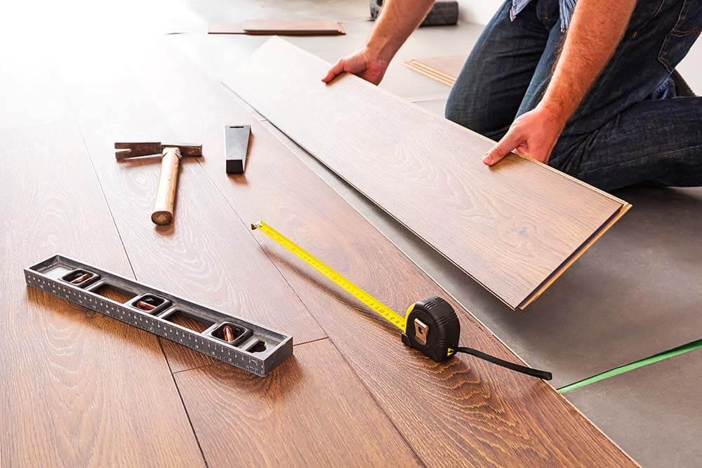 Floor restoration work in progress