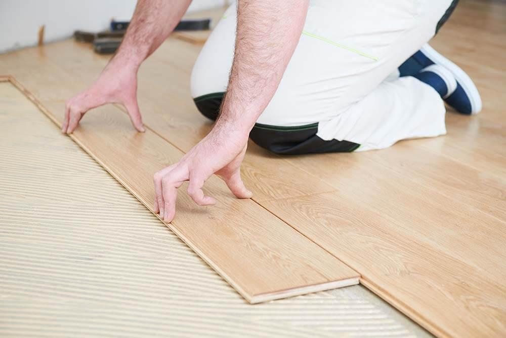 Floor restoration work