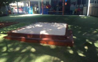 Sand pit and Astro Turf