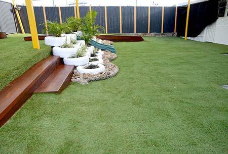Loganholme Playground Astro Turf & Plants