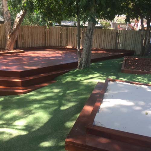 Sandpit and Astro Turf