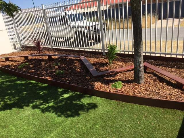 pool fencing and walk way