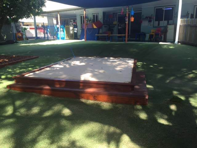 Sand bark pits and Astro turf Installation