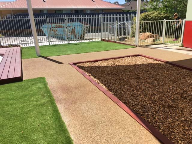 Bark top up and Astro Turf