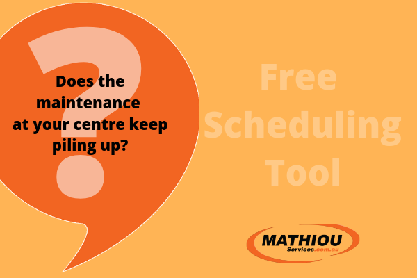 Does the maintenance at your centre keep piling up? Get this great planning tool free. Community Maintenance and Repair Services  scheduled works maintenance gardening maintenance