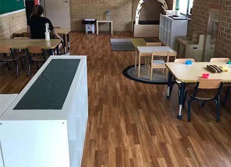 Mathiou Services Floor Restoration Work