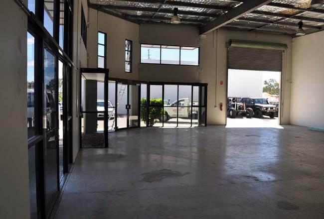 Commercial building interior renovation