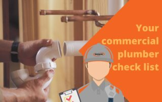 Your commercial plumber check list