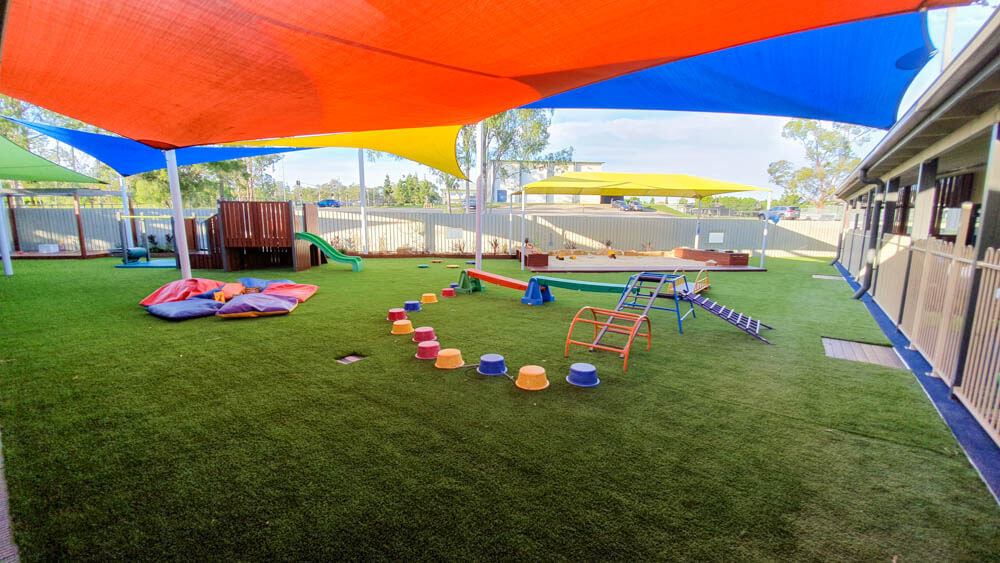 Stretton playground upgrade experience Building and Construction Services Childcare Centre Makeovers Gardening & Landscaping Services Our Projects Playground  project management Playground Upgrade playground Forts Astroturf