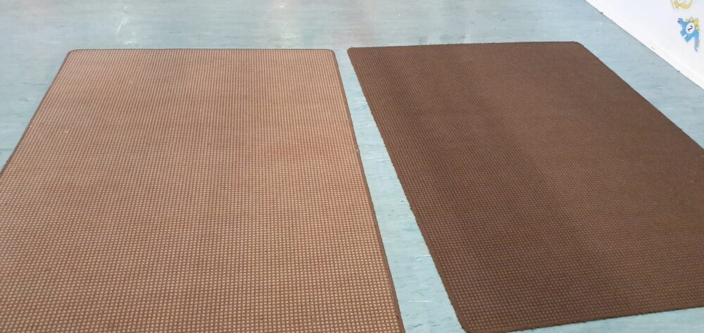 Carpet after steam clean
