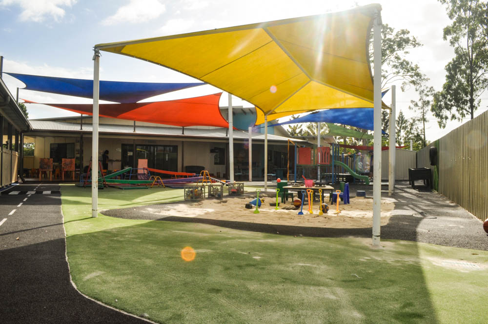 Stretton Early Learning Centre Sandpit and astroturf