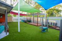 Stretton Playground Deck with pagola tranformation