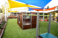 Stretton Early Learning Centre Fort with Shade sail upgrade