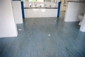 Childcare Centre Before Vinyl Flooring and Strip & Seal