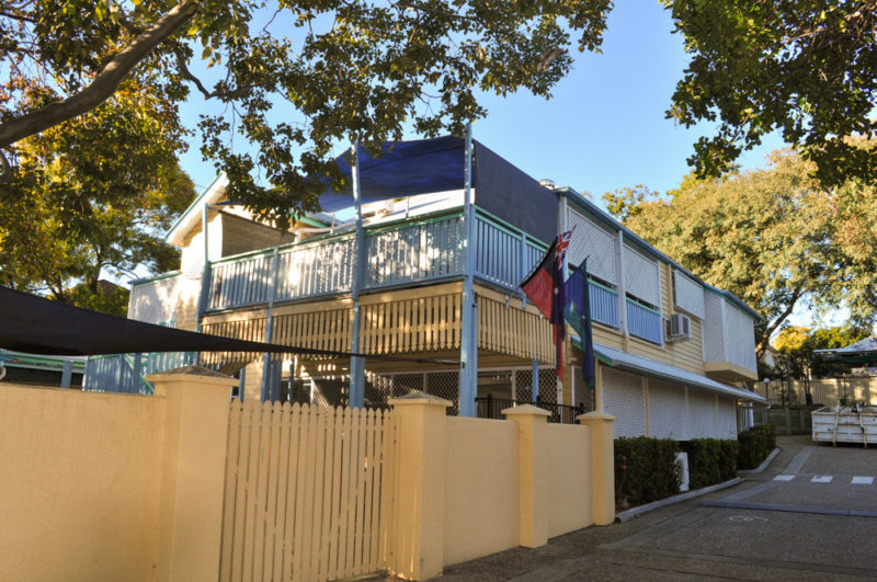 East Brisbane Childcare Exterior Paint before