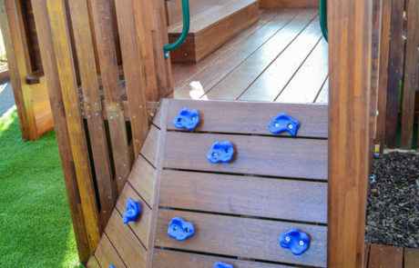 Bright Buttons climbing wall