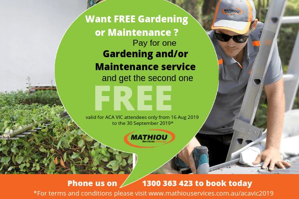 Pay for one gardening and/or maintenance and get the second one free