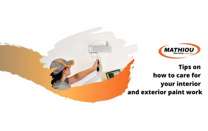 Tips on how to care for your interior and exterior paint work