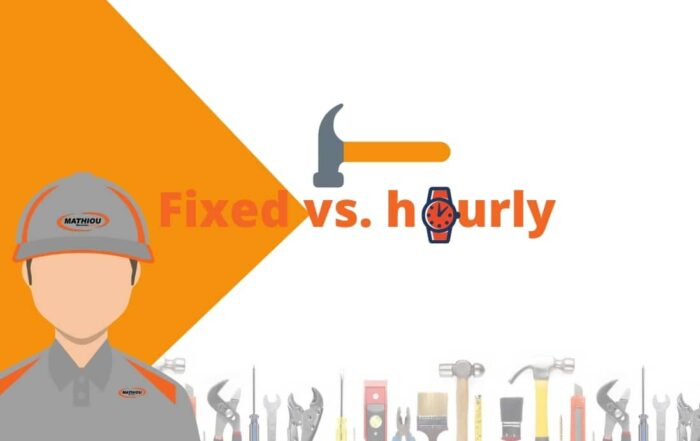 types of tradesmen payments -fixed vs. hourly